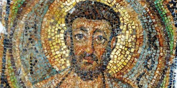Imagen del mosaico bizantino de San Marcos, que fue saqueado de la iglesia de Panaya Kanakaria, Chipre. Crédito: JAN HENNOP / AFP / AFP / Getty Images.