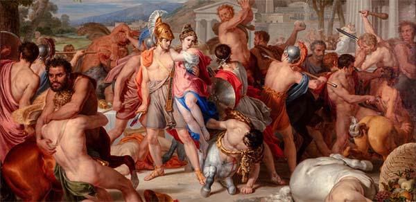 Rafael Tegeo Díaz - Combate de lapitas y centauros, 1835. Óleo sobre lienzo. Colección particular. Prestado por la voluntad de William B. Jordan †. Donación comprometida al Museo Nacional Del Prado.