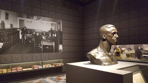 """Una imagen de la exposición """"Cartas al Rey. La mediación humanitaria de Alfonso XIII en la Gran Guerra"""" en el Palacio Real de Madrid."""
