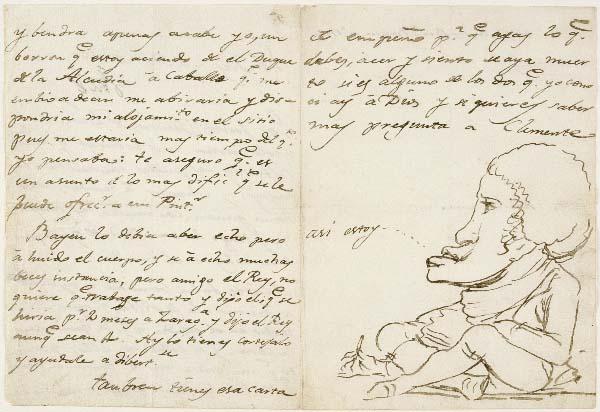 Goya - Carta de Goya a Martín Zapater 1794.