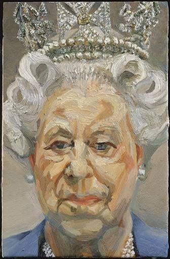 Lucian Freud – Retrato de Isabel II.