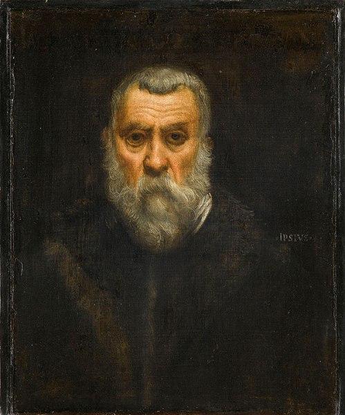 Tintoretto - Autorretrato , c. 1588. Óleo sobre lienzo. 63 × 52 cm (93,5 × 84,5 cm. enmarcado). Musée du Louvre, París.