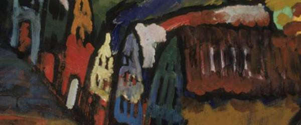 Vasili Kandinsky - Imagen con casas, 1909. Detalle.