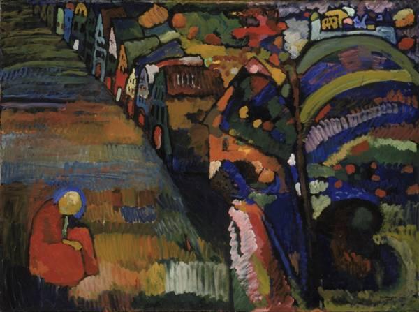Vasili Kandinsky - Imagen con casas, 1909.