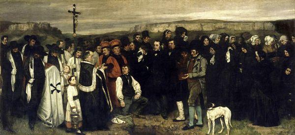Gustave Courbet – Entierro en Ornans (Un enterrement à Ornans), 1849. Óleo sobre tela. 315 x 668 cm. Museo de Orsay, París, Francia.