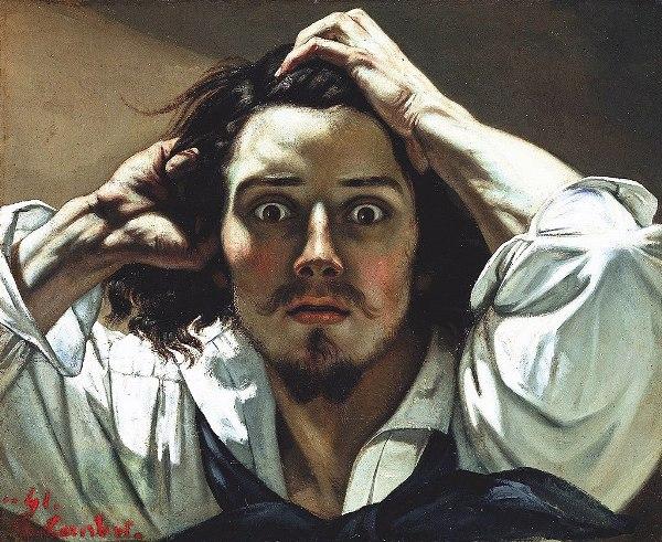 Gustave Courbet – El Desesperado, 1843 - 1845. Óleo sobre lienzo. 45 x 54 cm. Colección particular.