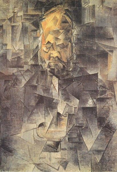 Pablo Picasso – Retrato de Ambroise Vollard,1909-1910. Óleo sobre lienzo. 92 x 65 cm. Museo Pushkin, Moscú.