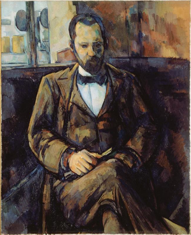 Paul Cézanne - Portrait d'Ambroise Vollard, 1899. Óleo sobre lienzo. 100,3 x 81,3 cm. Petit Palais, París, Francia.