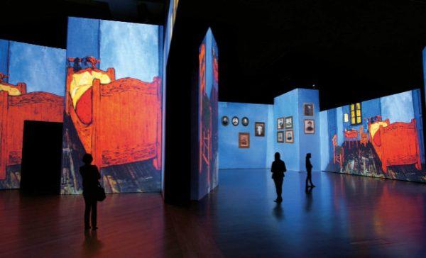 """""""Van Gogh Alive – The Experience"""". Distintas imágenes de la muestra."""