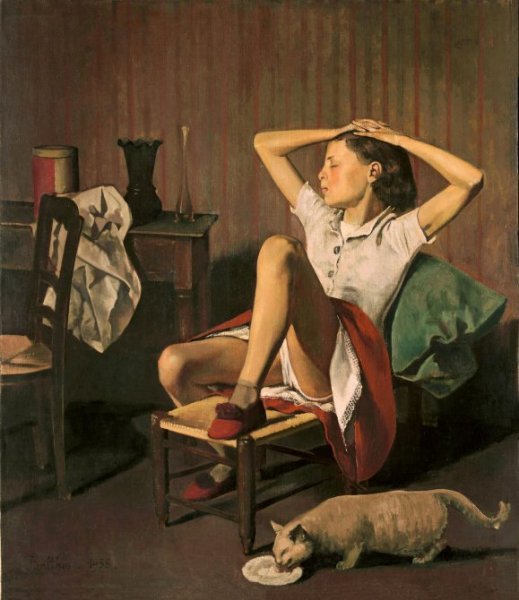 Balthus - Thérèse soñando (Thérèse Dreaming), 1938. Óleo sobre lienzo, 149,9 x 129,5 cm. The Met - The Metropolitan Museum of Art, Nueva York. Jacques and Natasha Gelman Collection, 1998. © Balthus, 2019.