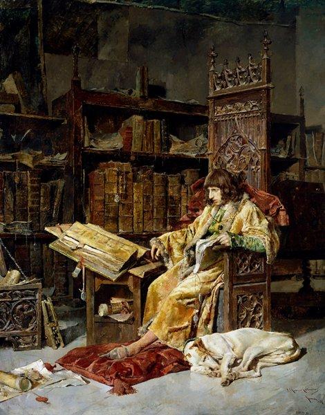 José Moreno Carbonero – El príncipe don Carlos de Viana, 1881. Óleo sobre lienzo. 310 x 242 cm. Museo del Prado, Madrid, España.