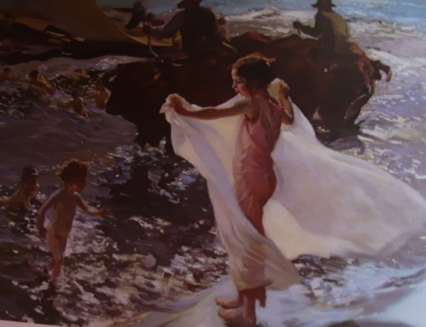 Joaquín Sorolla – La hora del baño, 1904. Óleo sobre lienzo. 84 x 119 cm.