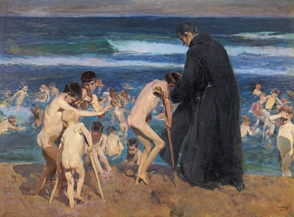 Joaquín Sorolla – Triste Herencia, 1899. Óleo sobre lienzo. 212 x 288 cm.