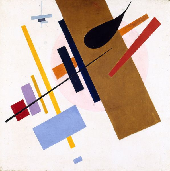 Kazimir Malévich - Suprematismo, 1915-1916. Museo Regional de Bellas Artes Kovalenko, Krasnodar INV. КП-10432 Ж-358. © The Krasnodar Regional Art Museum named after F.A. Kovalenko, 2018, provided with assistance from the State Museum and Exhibition Center ROSIZO.