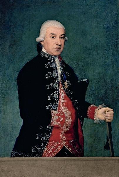 Francisco de Goya - Retrato de Francisco Javier de Larrumbe,1787, Banco de España.