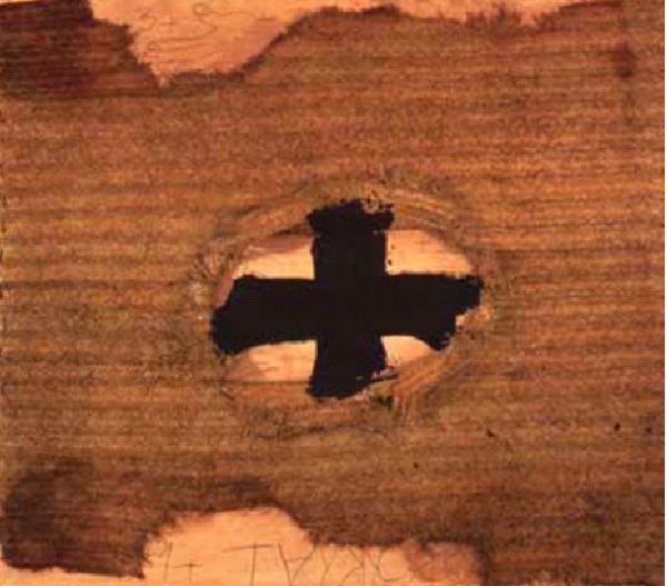 Antoni Tàpies – Estora, 1994. Pintura y collage sobre tela. 220 x 227. Proveniente de la colección de Soledad Lorenzo.