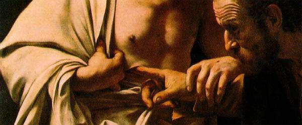 Comentar un cuadro: La incredulidad de Santo Tomás – Caravaggio.