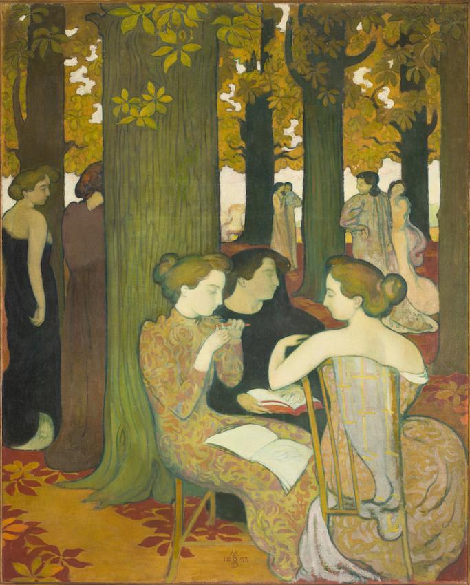 Maurice Denis – Las Musas (Les Muses), 1893. Óleo sobre lienzo, 171 x 137,5 cm, Musée d'Orsay, París.