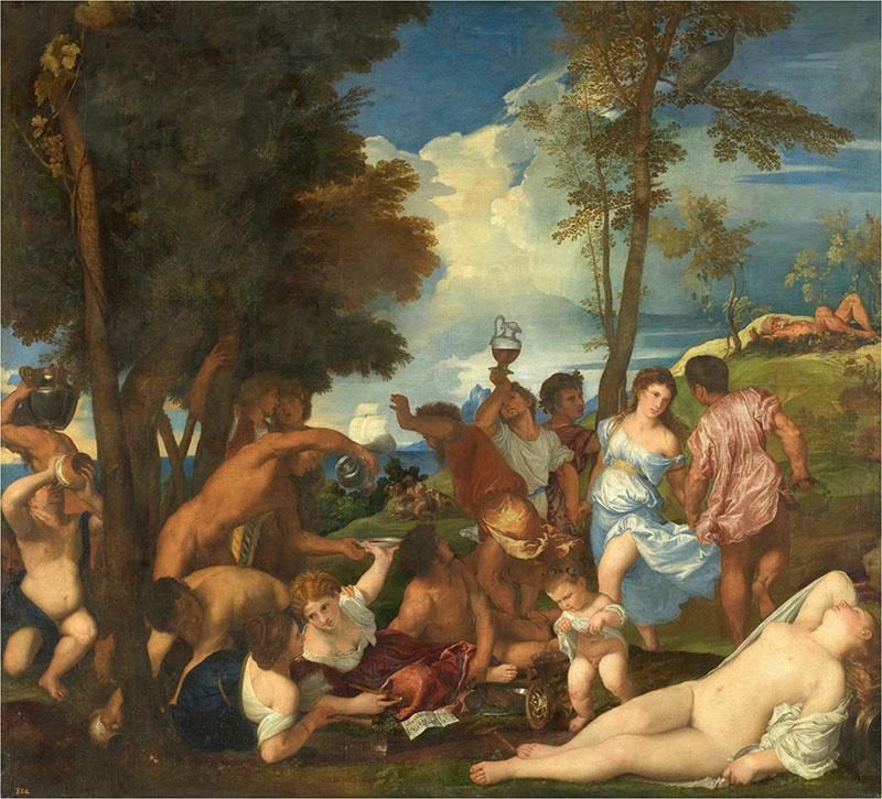 Tiziano - La bacanal de los andrios, 1523-26